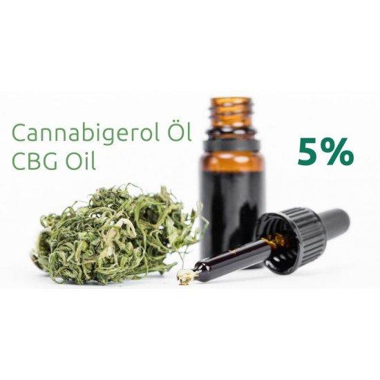 CBG Cannabigerol hempseed oil 5 %, 500mg - 10ml