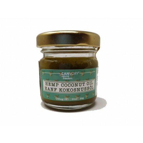 Organic hemp coconut oil with hemp seed oil and hemp herb - 156 mg CBD, 30ml
