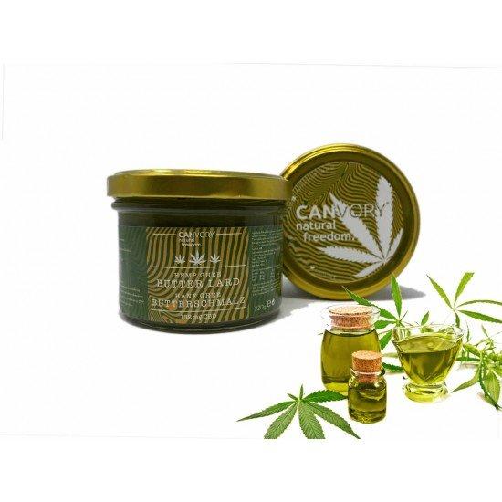 Organic hemp ghee butter lard with Hemp seed oil and hemp herb - 152mg CBD, 220g